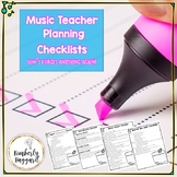 Music Teacher Checklists