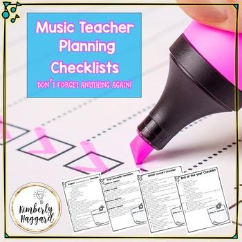 Music Teacher Checklists