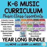 Music Teacher Curriculum Lessons, Songs, Games, Activities, Videos, K-6 BUNDLE
