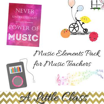Music Teacher Elements Pack