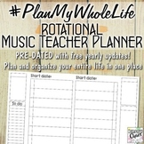 #PlanMyWholeLife Music Teacher Planner Bundle: Rotational