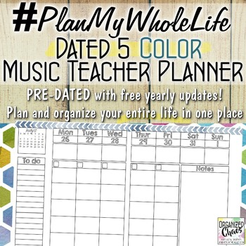 Entire Life Music Teacher Planner and Organization Binder: