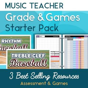Music Teacher Grade & Game Starter Pack for the Elementary