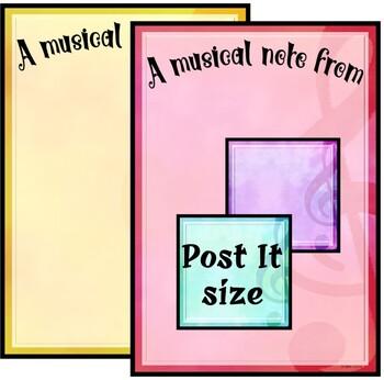 """Music Teacher"" Notepad Sheets Set {Editable}"
