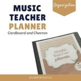 Music Teacher Planner {Cardboard and Chevron}