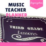 Music Teacher Planner {Chalkboard and Chevron}