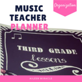 Music Teacher Planner {Chalkboard and Chevron}