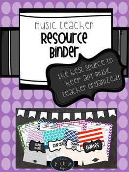 Music Teacher Resource Binder