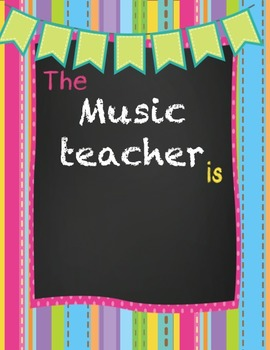Music Teacher Stationery Super Pack - Wall Poster and Notes