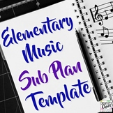 Music Teacher Sub Plan Template