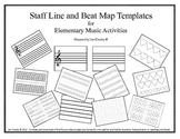 Music Teacher's Toolbox - Staff and Beat Map Templates