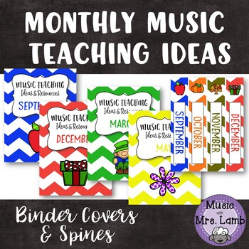 music teaching ideas monthly binder covers by music with mrs lamb