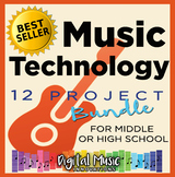 Music Technology Curriculum Bundle: 12 Project Ideas for use with GarageBand