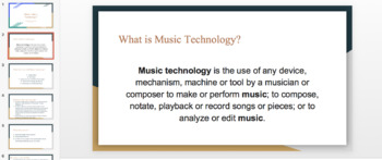 Music Technology Class Curriculum (Lessons documents and Rubrics)
