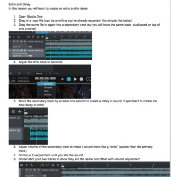 Music Technology Unit 3 Curriculum Bundle: Working with Audio