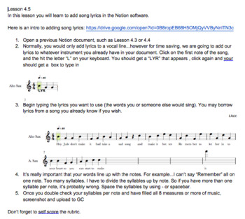 Music Technology Unit 4 Bundle: Working with Notation Software