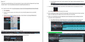 Music Technology Unit 5 Bundle: Recording and Editing