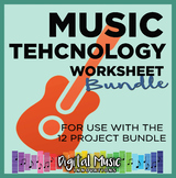 Music Technology Worksheet Bundle