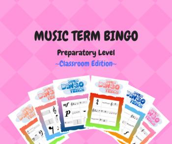 Music Term Bingo -Classroom Edition (1-40 Players) - RCM Preparatory Level