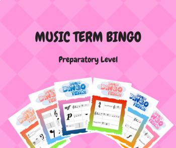 Music Term Bingo - Small Group Edition (1-6 Players) RCM Preparatory Level