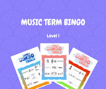 Music Term Bingo - Small Group Edition (1-6 Players) - RCM Level 1