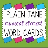 Music Term Cards- Perfect for Word Walls- Can be Printed on Index Cards!