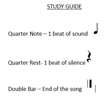 Music Terms Vocab Quiz and Study Guide