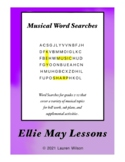 Music Terms Word Search Packet
