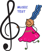 Music Test (Instruments, notes, clef, staff)