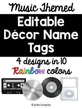 Music Name Tags Worksheets & Teaching Resources | TpT