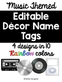 Music Theme Decor | Name Tags | Editable | Back to School