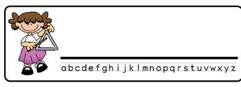 Music Theme Desk Nameplates (Set of Four)