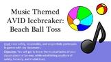 Music Themed AVID Icebreaker Beach Ball Toss