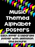 Music Themed Alphabet Posters