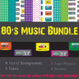 Music Themed Backgrounds and Clipart Bundle