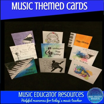 Music Themed Birthday Cards By Educator Resources