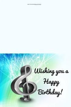 Music Themed Birthday Cards