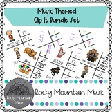 Music Themed Clip Its Rhythm Center Bundle