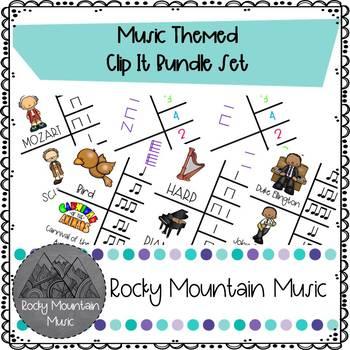 Music Themed Clip Its Rhythm Center Bundle