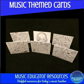 Music Themed Doodle Cards