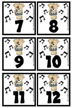 Music Themed Instrument / Notes Calendar Cover-Ups / Memory Game Piecs - Prek