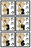 Music Themed Instrument / Notes Calendar Cover-Ups / Memory Game Piecs - Prek