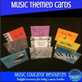 Music Themed Just a Note Cards
