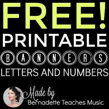 Music-Themed Printable Banners A-Z and 0-9
