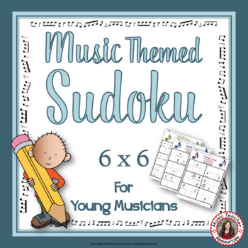 Music Games and Puzzles: SUDOKU 6 x 6 Music Worksheets