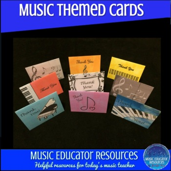 Music Themed Thank You Cards