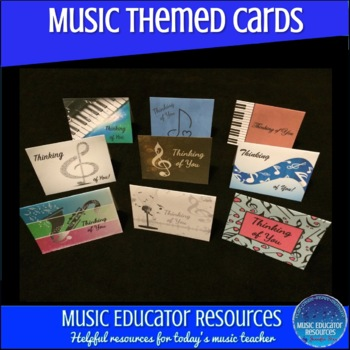 Music Themed Thinking of You Cards