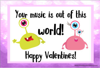Music Themed Valentine Cards