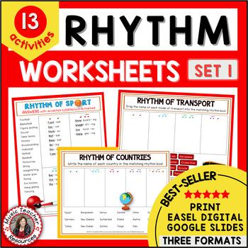 RHYTHM: 12 RHYTHM Worksheets