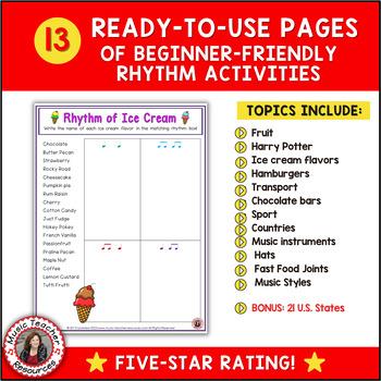 rhythm 12 rhythm worksheets by musicteacherresources tpt. Black Bedroom Furniture Sets. Home Design Ideas